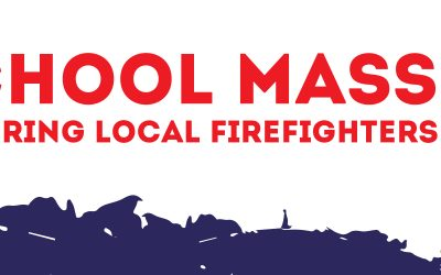 School Mass Honoring local firefighters